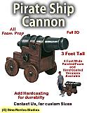 Pirate Ship Cannon Foam Prop