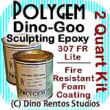 Polygem Dino-Goo 307FR Epoxy Clay Foam Coating - 2 Quart
