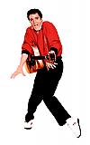 Elvis Orange Jacket (Talking) - Elvis Cardboard Cutout Standup Prop