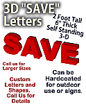 """24 Inch Foam """"SAVE"""" Letters"""