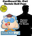 Tootsie Roll Mr Owl Card Board Cutout Standup