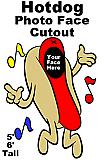 Hotdog Photo Face Cutout Standup Prop